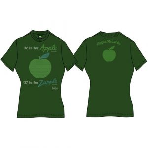 The Beatles Ladies Premium T-Shirt: A is for Apple (Back Print) (X-Large)
