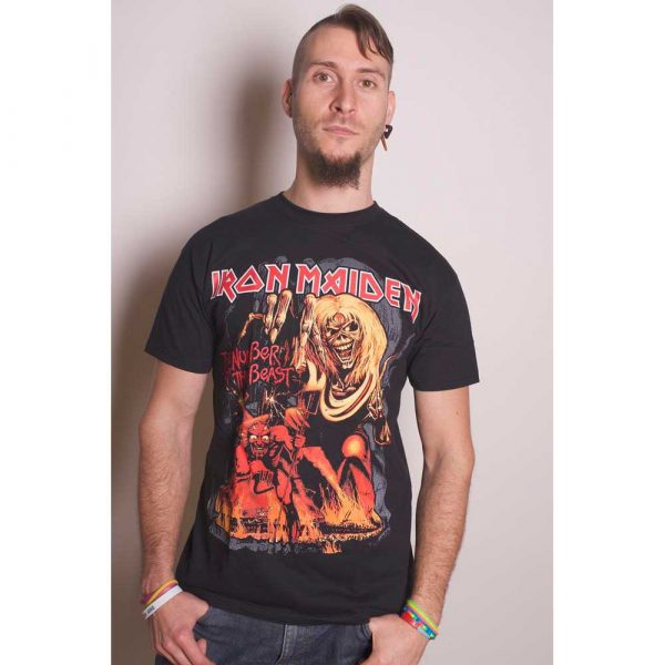 Iron Maiden Mens T-Shirt: Number of the Beast Graphic (XX-Large)