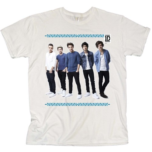 One Direction Ladies T-Shirt: College Wreath (Skinny Fit) (X-Large)