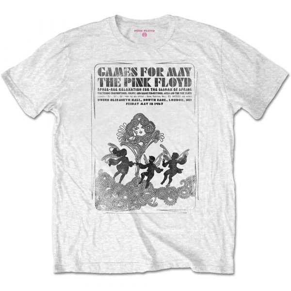 Pink Floyd Mens T-Shirt: Games For May B&W (XX-Large)