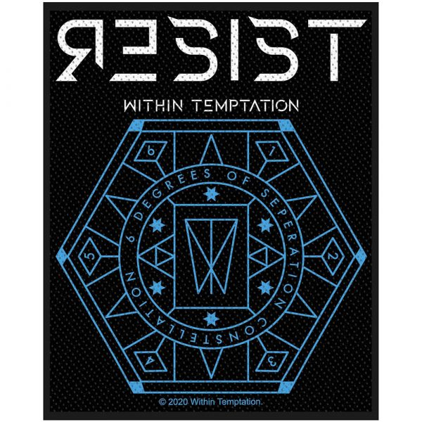Within Temptation Standard Patch: Resist Hexagon