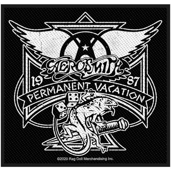 Aerosmith Standard Patch: Permanent Vacation (Retail Pack)